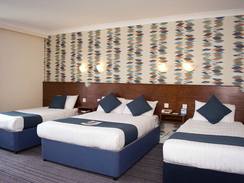TLH Victoria Hotel, Torquay, Family Room for 4 People