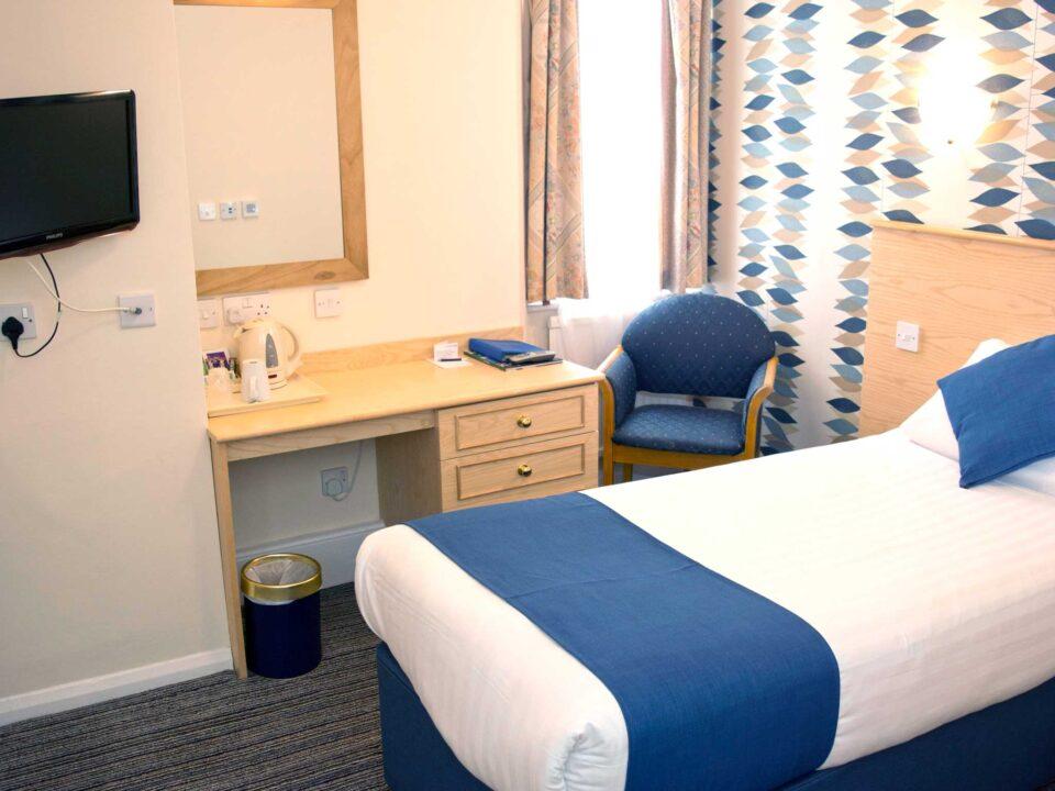 TLH Derwent Hotel Single Bedroom
