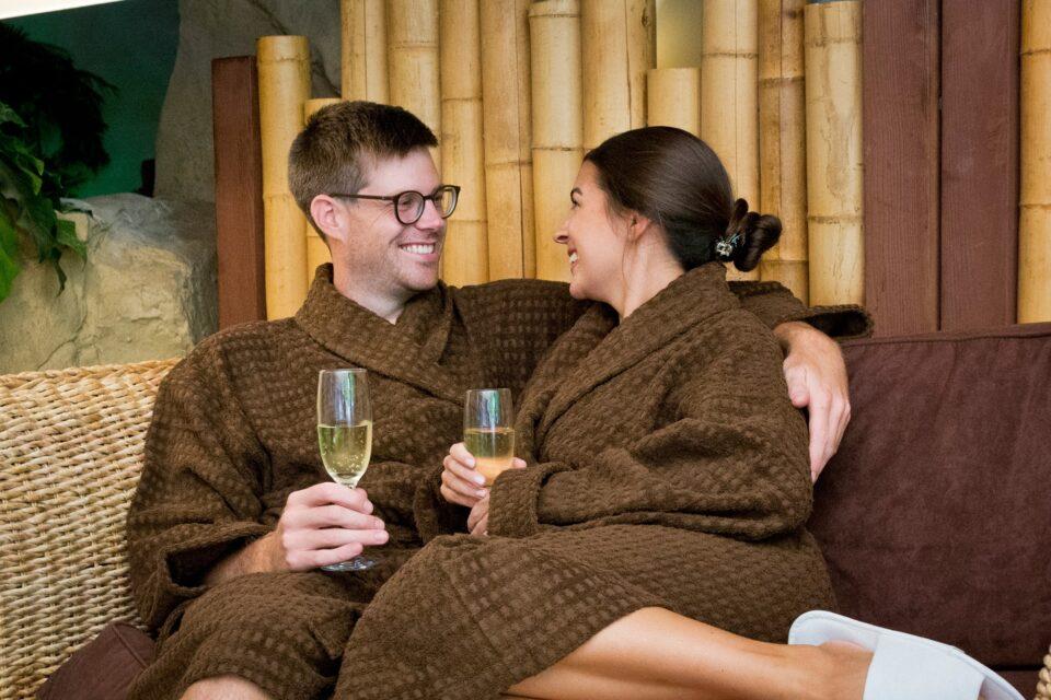 Aztec Spa in Torquay, Couple Relaxingac