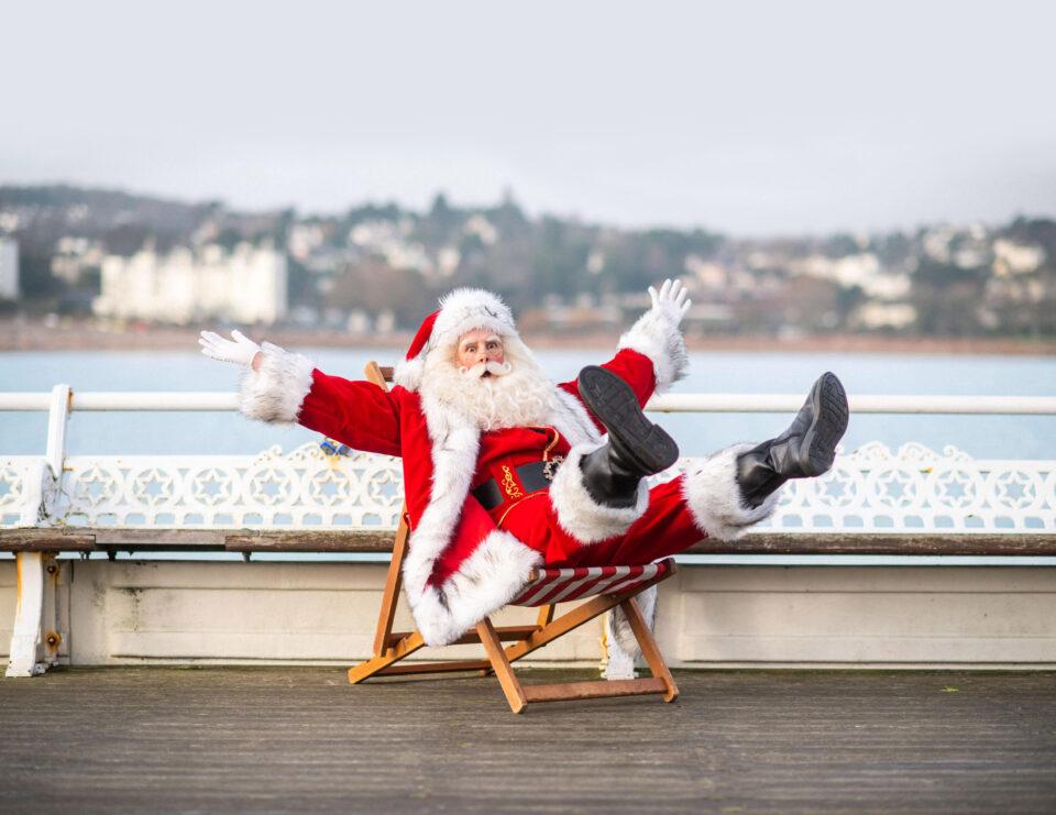 Santa on Torquay Pier