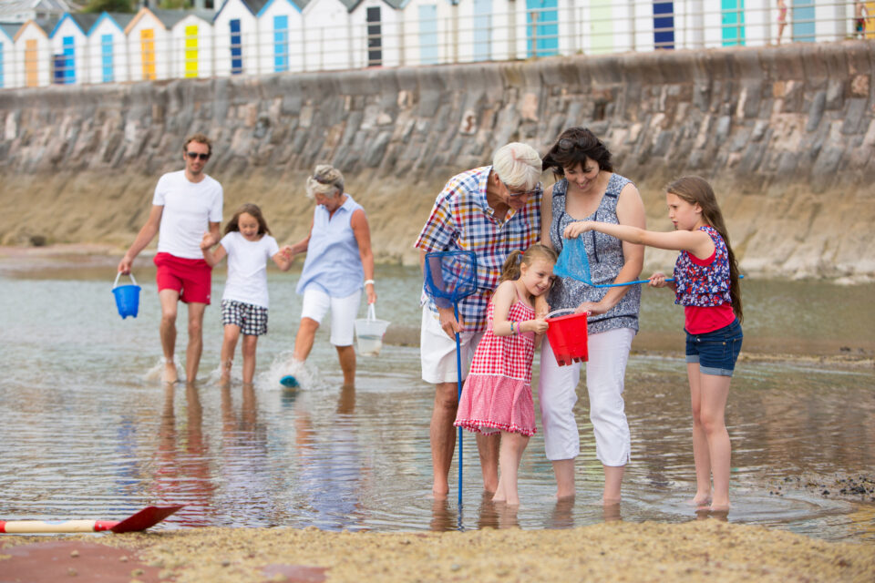 Family on the Beach in Paignton