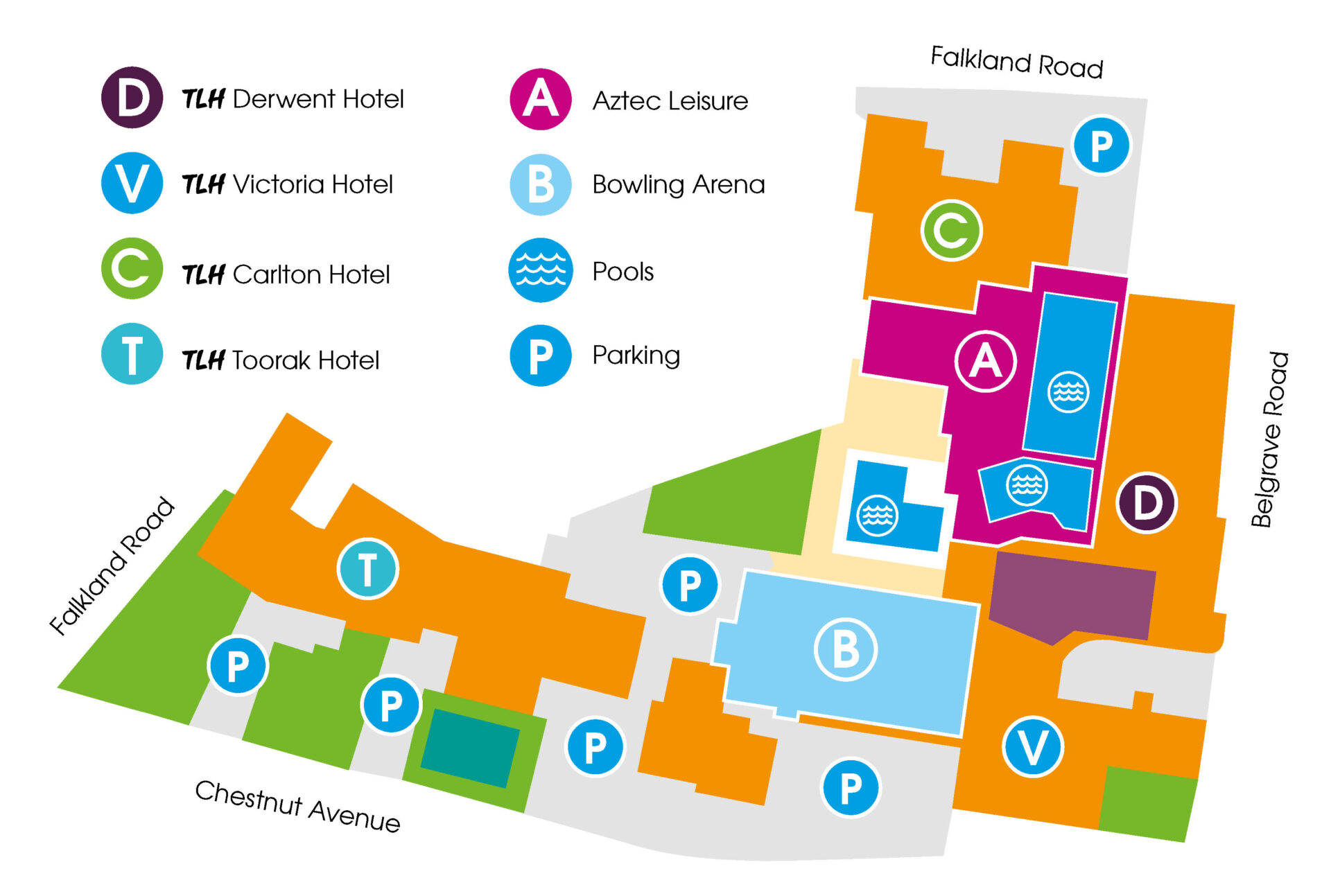 TLH Leisure Resort Map, Torquay
