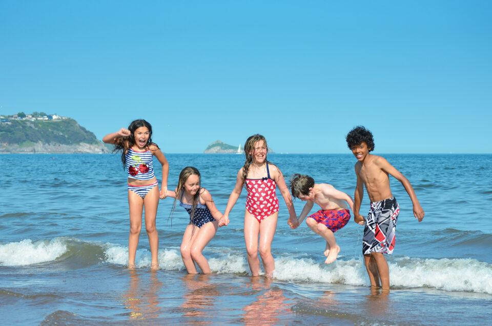 Children at Beach in Torquay
