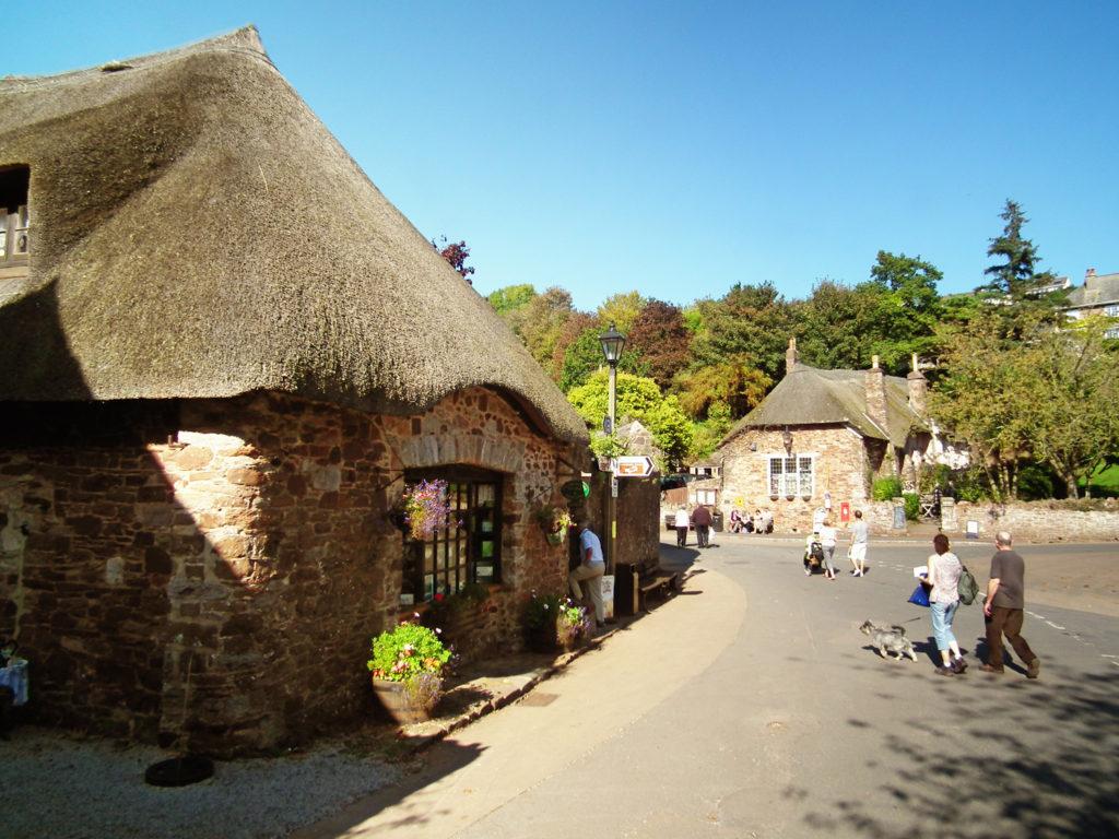 Thatched cottages in Cockington Village