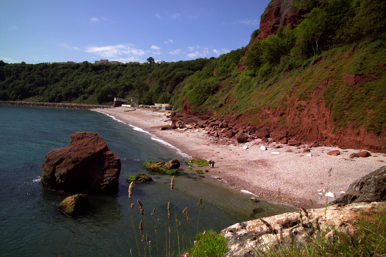 Oddicombe Beach in Torquay dutin October