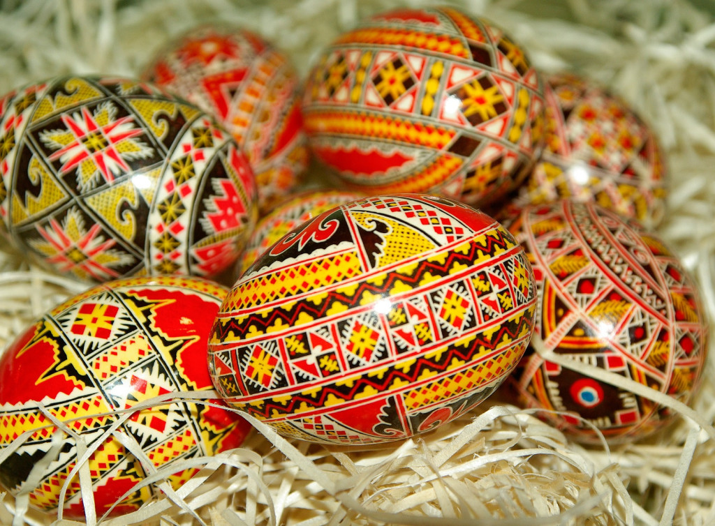 decorated easter eggs fro the Easter holidays