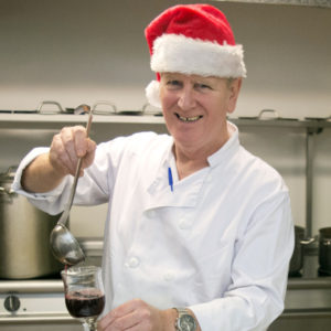 TLH Victoria Hotel Head Chef, with Mulled wine