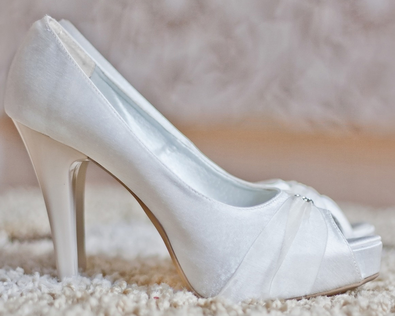 break in their wedding shoes