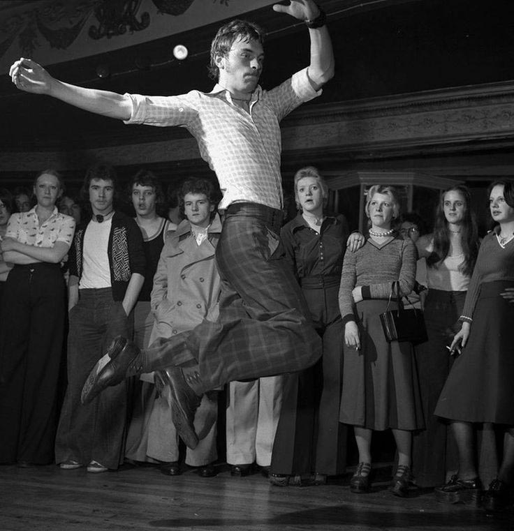 Northern Soul dancer from the 1970s