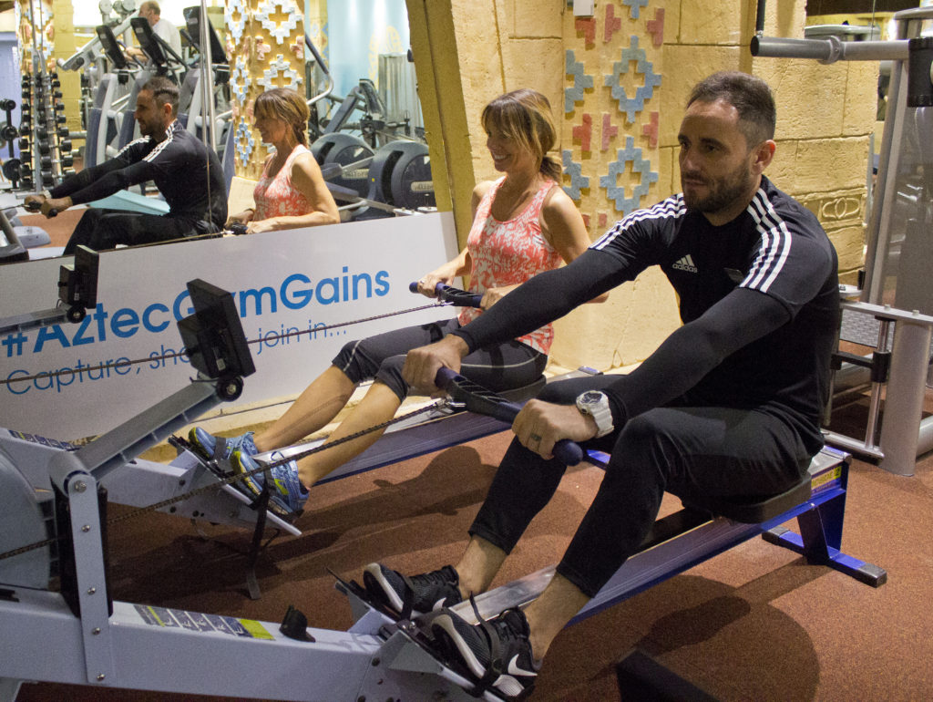 Rowing machines at the Aztec Gym in Torquay